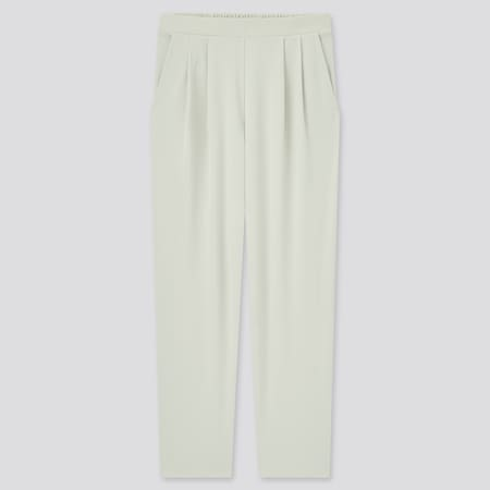 Women Crepe Jersey Tapered Fit Trousers