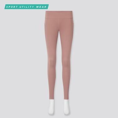 Women Airism Uv Protection Active Soft Leggings, Pink, Medium