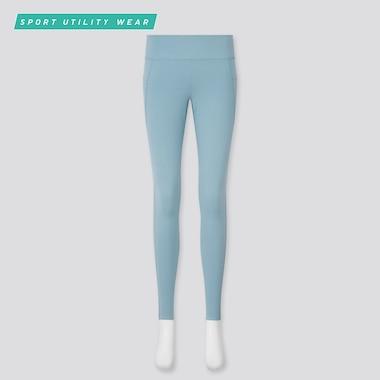 Women Airism Uv Protection Active Soft Leggings, Blue, Medium