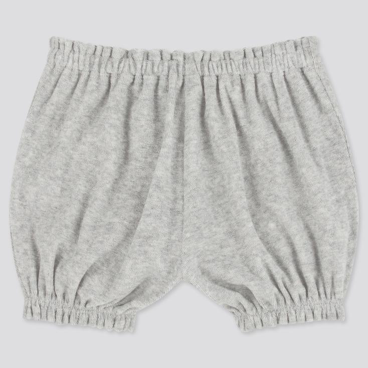 Baby Airism Pile Pumpkin Shorts, Gray, Large