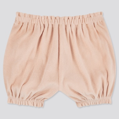 Baby Airism Pile Pumpkin Shorts, Pink, Medium
