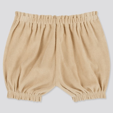 Baby Airism Pile Pumpkin Shorts, Beige, Medium