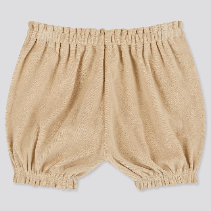 Baby Airism Pile Pumpkin Shorts, Beige, Large