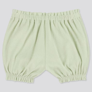 Baby Airism Pile Pumpkin Shorts, Light Green, Medium