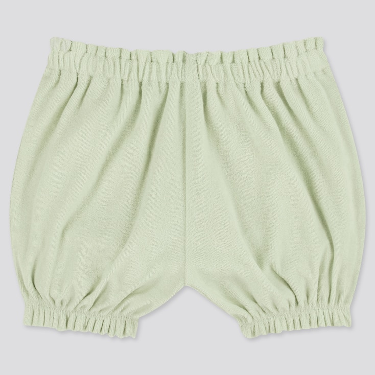 Baby Airism Pile Pumpkin Shorts, Light Green, Large