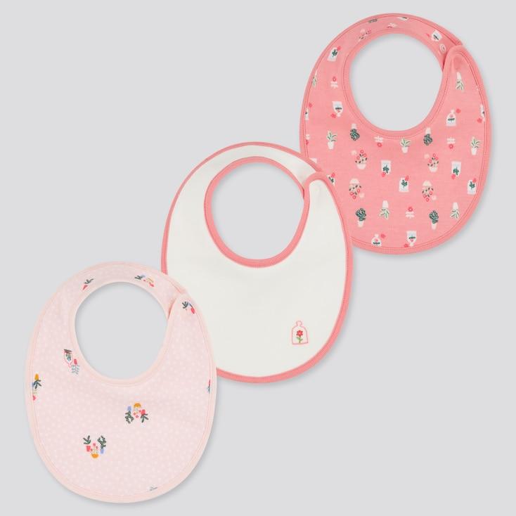 Baby Joy Of Print Bib (Set Of 3), Pink, Large