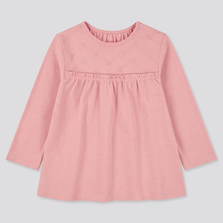 Babies Toddler Embroidered Crew Neck Long Sleeved T-Shirt