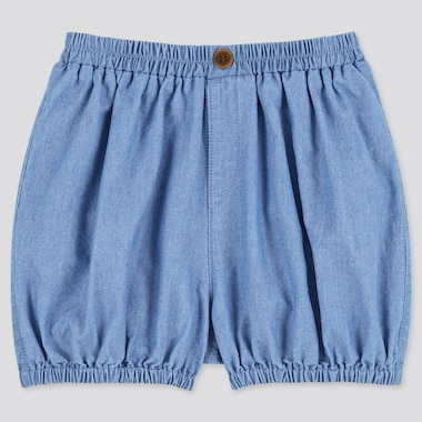 Toddler Pumpkin Woven Easy Shorts, Blue, Medium