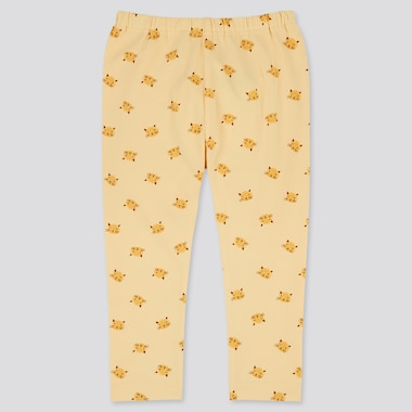 Baby Full-Length Leggings, Yellow, Medium