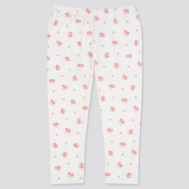 Baby Full-Length Leggings, Off White, Medium