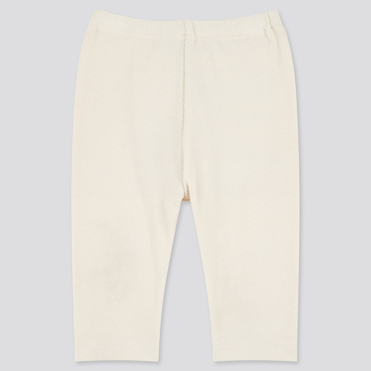 Baby Cropped Leggings, Off White, Large
