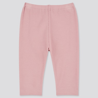Baby Cropped Leggings, Pink, Medium