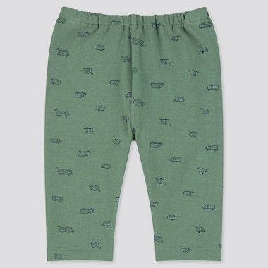 Baby Cropped Leggings, Green, Medium