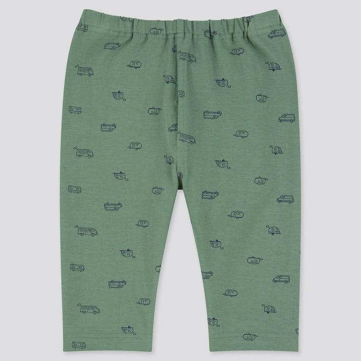 Baby Cropped Leggings, Green, Large