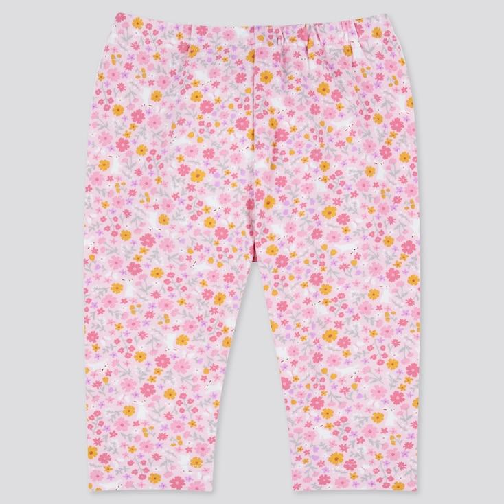 Baby Cropped Leggings, Pink, Large