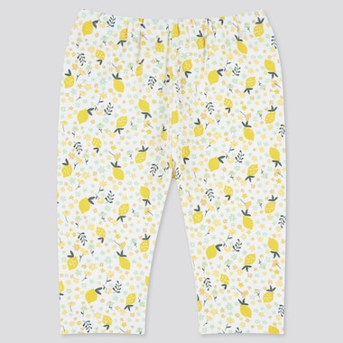 Baby Cropped Leggings, Yellow, Medium