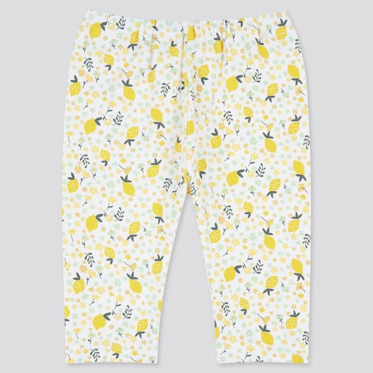 Baby Cropped Leggings, Yellow, Large