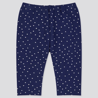 Baby Cropped Leggings, Navy, Medium