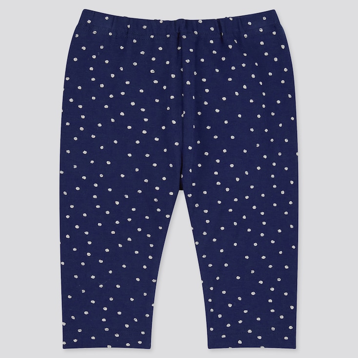 Baby Cropped Leggings, Navy, Large