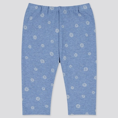 Baby Cropped Leggings, Blue, Medium