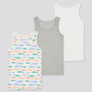 Toddler Joy Of Print Cotton Mesh Tank Top (Set Of 3), Gray, Medium