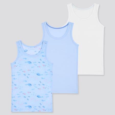 Babies Toddler Cotton Mesh Inner Vest Top (Three Pack)