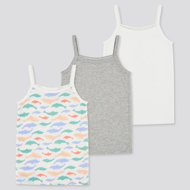 Toddler Joy Of Print Cotton Mesh Camisole (Set Of 3), Gray, Large