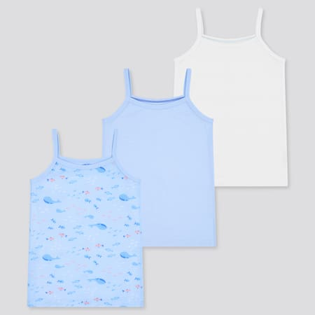 Babies Toddler Cotton Mesh Inner Camisole (Three Pack)
