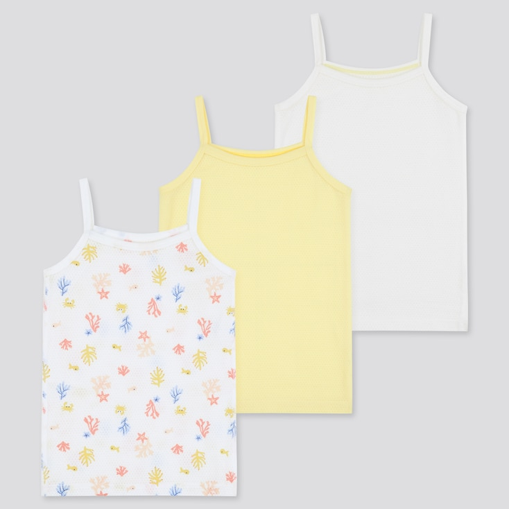 Toddler Cotton Mesh Camisole (3 Pack) (Online Exclusive), Yellow, Large