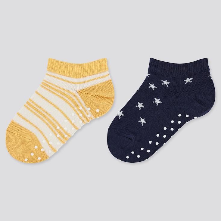 Baby Short Socks (2 Pairs), Yellow, Large