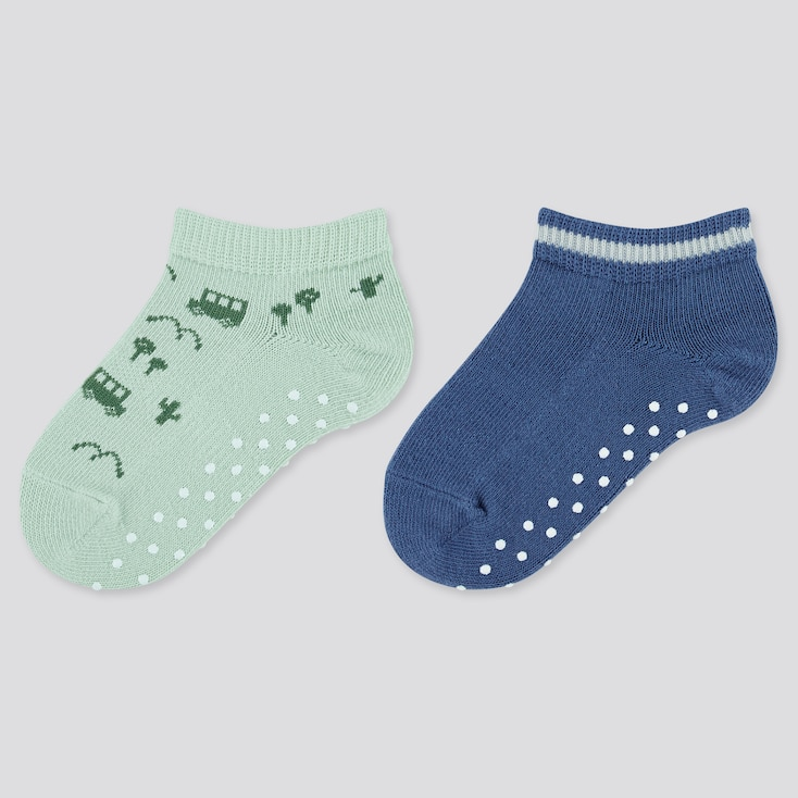 Baby Short Socks (2 Pairs), Light Green, Large