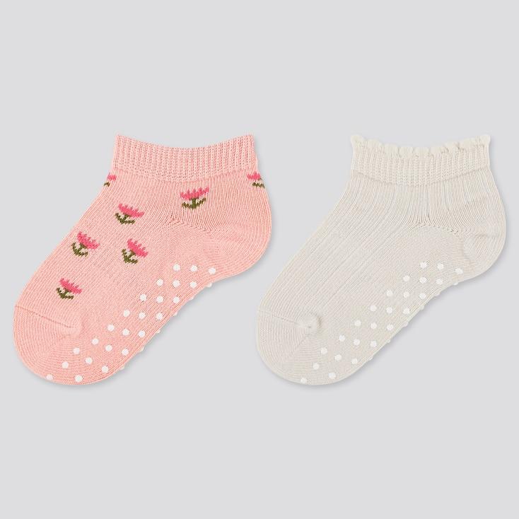 Baby Socks (2 Pairs), Light Orange, Large