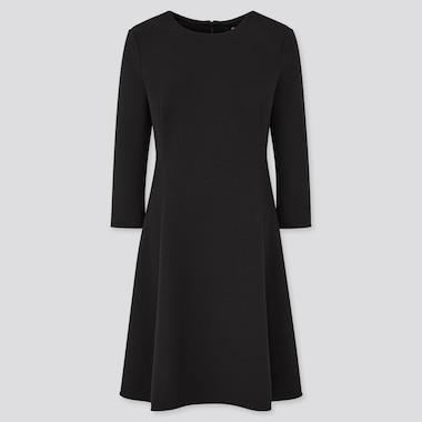 Damen Ausgestelltes Kleid mit Stretch und 3/4-Ärmeln