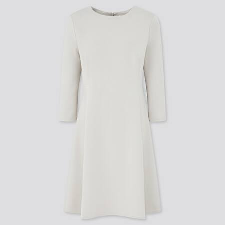 Women Stretch Modal Blend 3/4 Sleeved Flared Dress