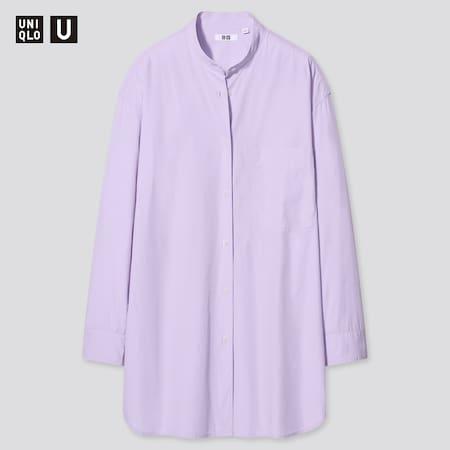 Women Uniqlo U Oversized Fit Long Sleeved Shirt