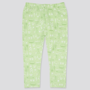 Baby Full-Length Leggings, Light Green, Medium