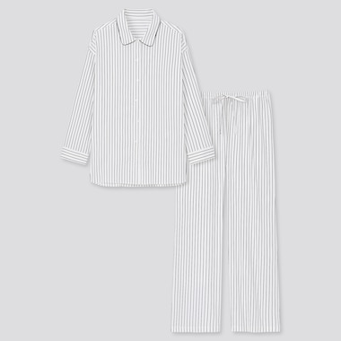 Women Soft Stretch Striped Long Sleeved Pyjamas