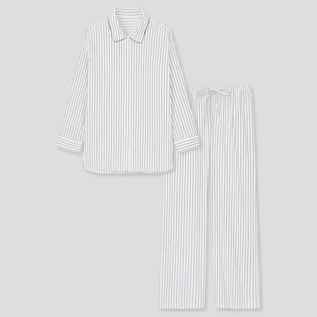 Women Soft Stretch Striped Long Sleeved Pyjamas