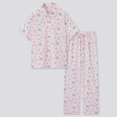 Women Joy Of Print Soft Stretch Pajamas, Pink, Medium