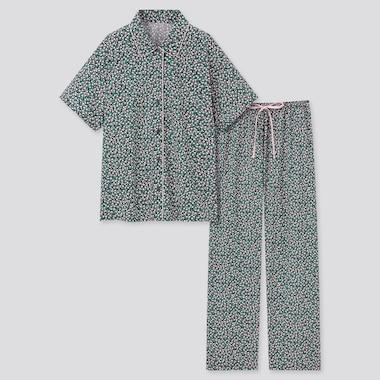 Damen Joy of Print Kurzärmliger Soft Stretch Pyjama mit langer Hose