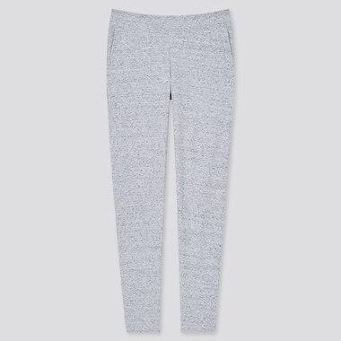 Women Ultra Stretch Ribbed Leggings Pants, Gray, Medium