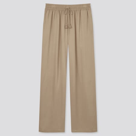 Damen Drape Satin Hose (Straight Fit)