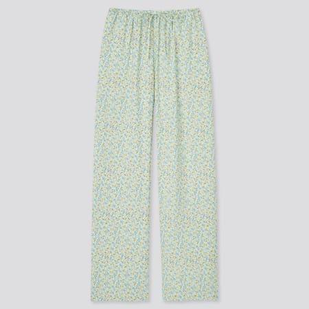 Damen Gemusterte Drape Hose (Straight Fit)