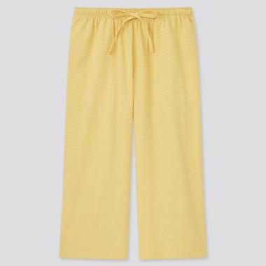 Damen Seersucker RELACO Baumwollshorts in 3/4-Länge