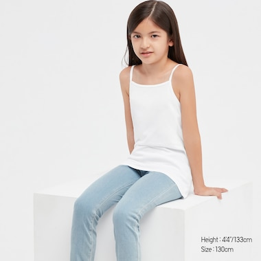 Kids Cotton Inner Camisole (Set Of 2) (Online Exclusive), White, Medium