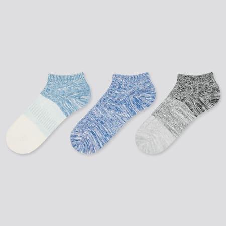 Kids Mélange Short Socks (Three Pairs)