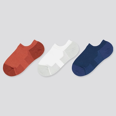 Kids Short Socks (3 Pairs), Orange, Medium