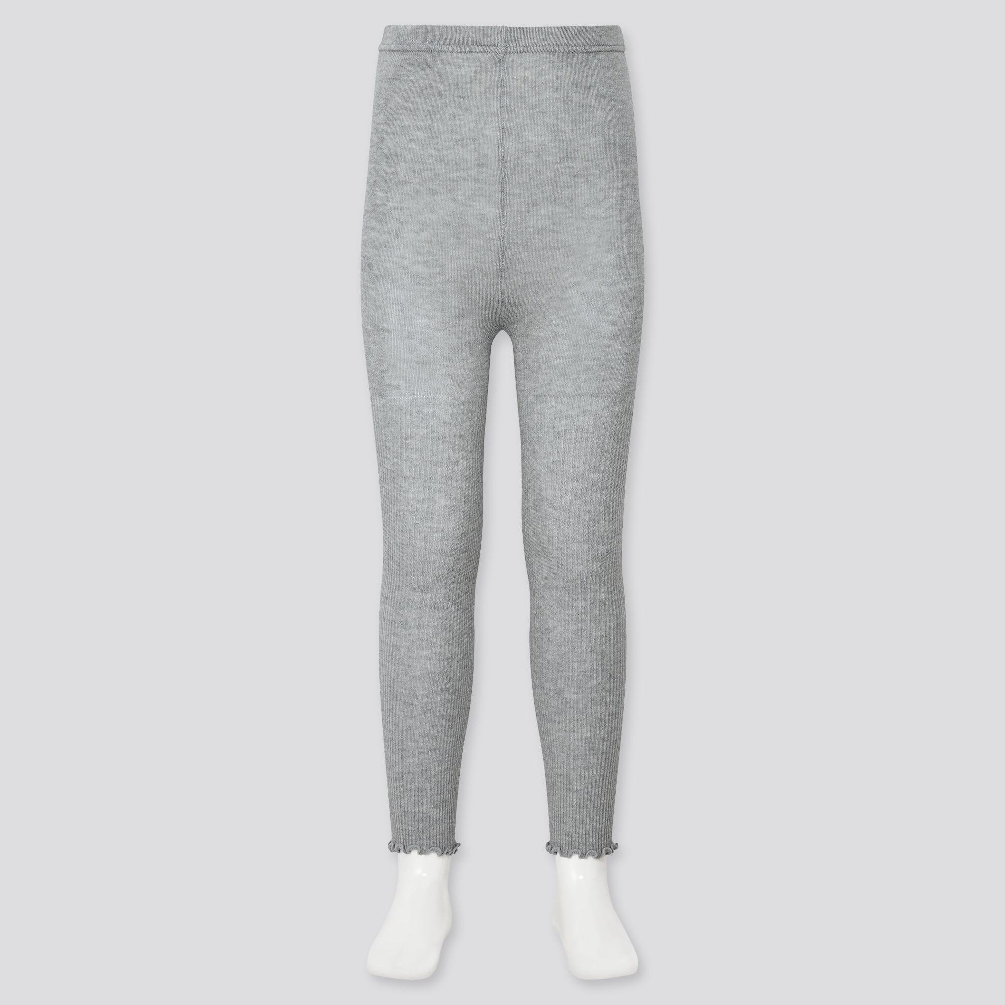 Uniqlo GIRLS RIBBED MELLOW ANKLE LEGGINGS