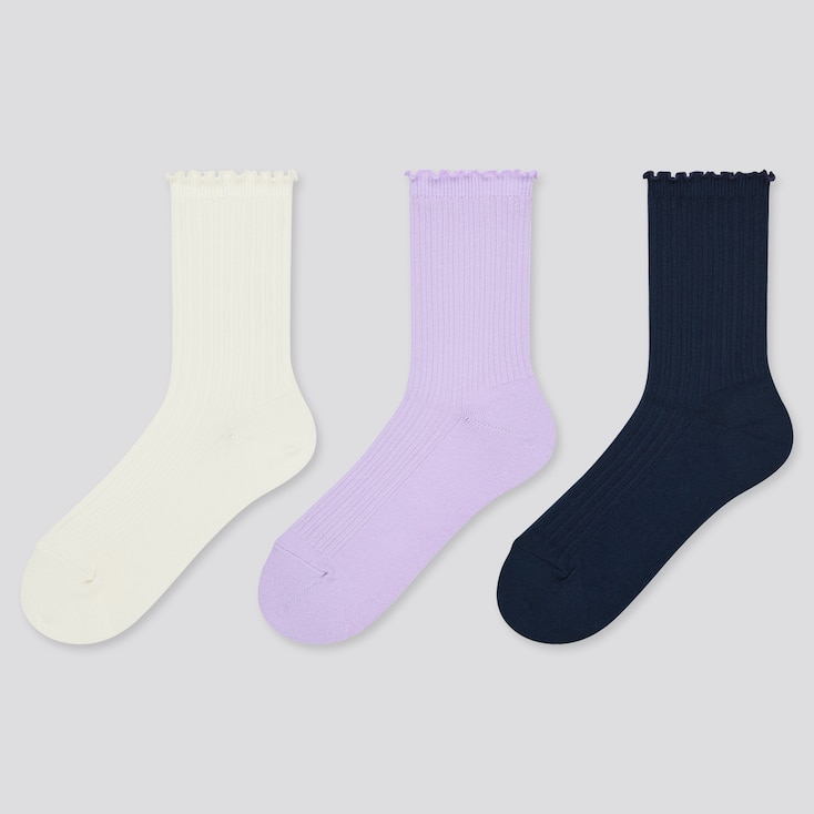 Girls Regular Socks (3 Pairs), Off White, Large