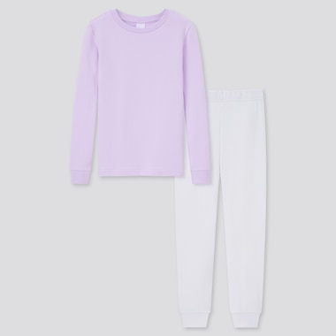 Girls Ultra Stretch Sweat Long-Sleeve Set, Light Purple, Medium